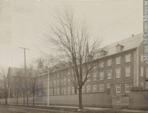 Grey Nuns Convent building from Guy Street, Montreal, QC, about 1890