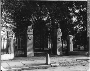 Gates to Edgehill, Montreal, QC, 1899
