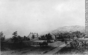 Greene Avenue, Westmount, QC, 1872, painting by James Duncan